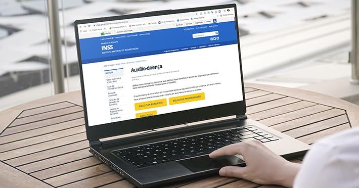 prorrogação do auxílio doença INSS pedindo pela internet
